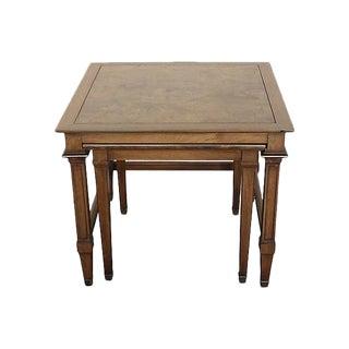 Burl Maple Nesting Tables - A Pair
