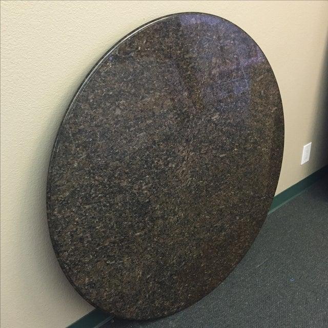"Beveled Black Granite 48"" Round - Image 8 of 8"