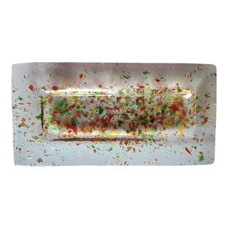 Murano Multi-Colored Glass Tray