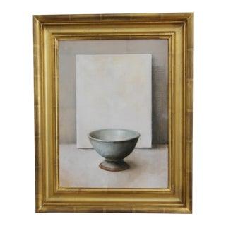 Oil On Canvas Still Life - Pottery