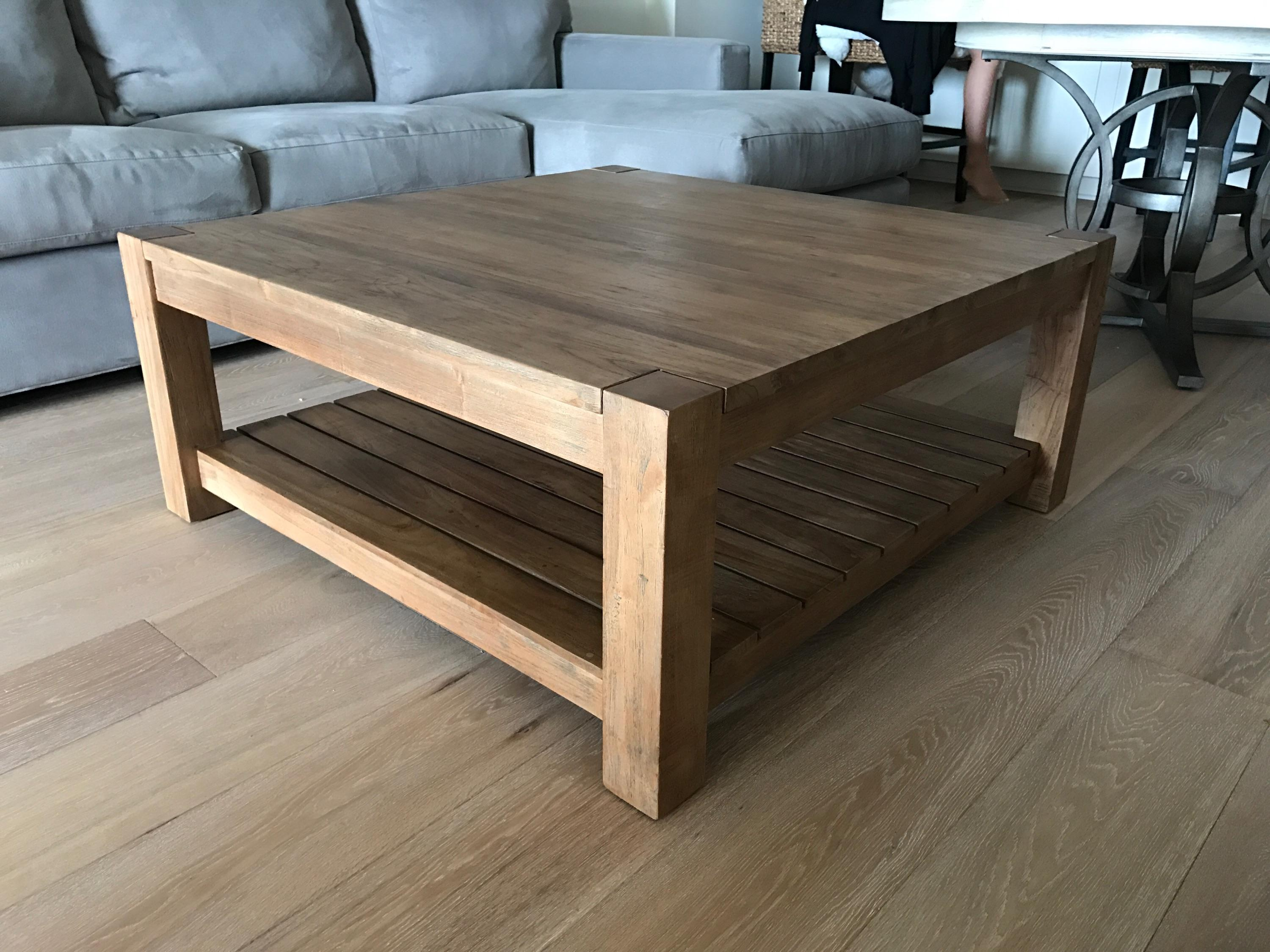 crate and barrel edgewood square coffee table | chairish