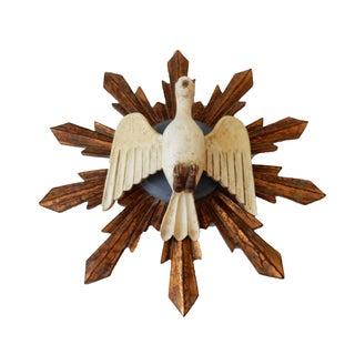 South American Dove Wooden Sunburst