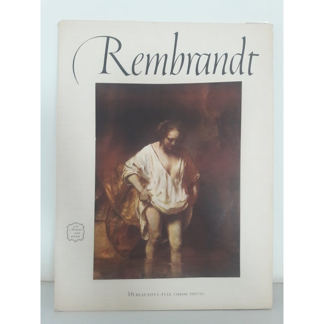 Image of Rembrandt Art Book With Prints, 1956