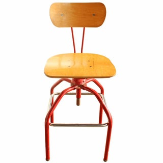 Vintage Cherry Red Stool