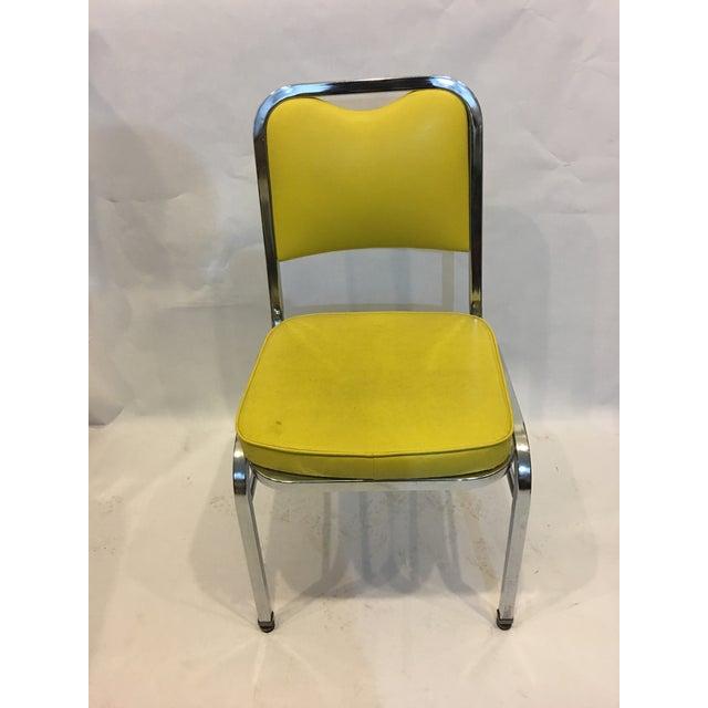 Mid-Century Chrome & Vinyl Chairs- Set of 4 - Image 4 of 8