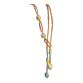 Venetian Glass Bead Necklace by Ercole Moretti