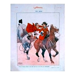 "La Rallic 1925 ""Trop Presse"" Le Sourire Print"
