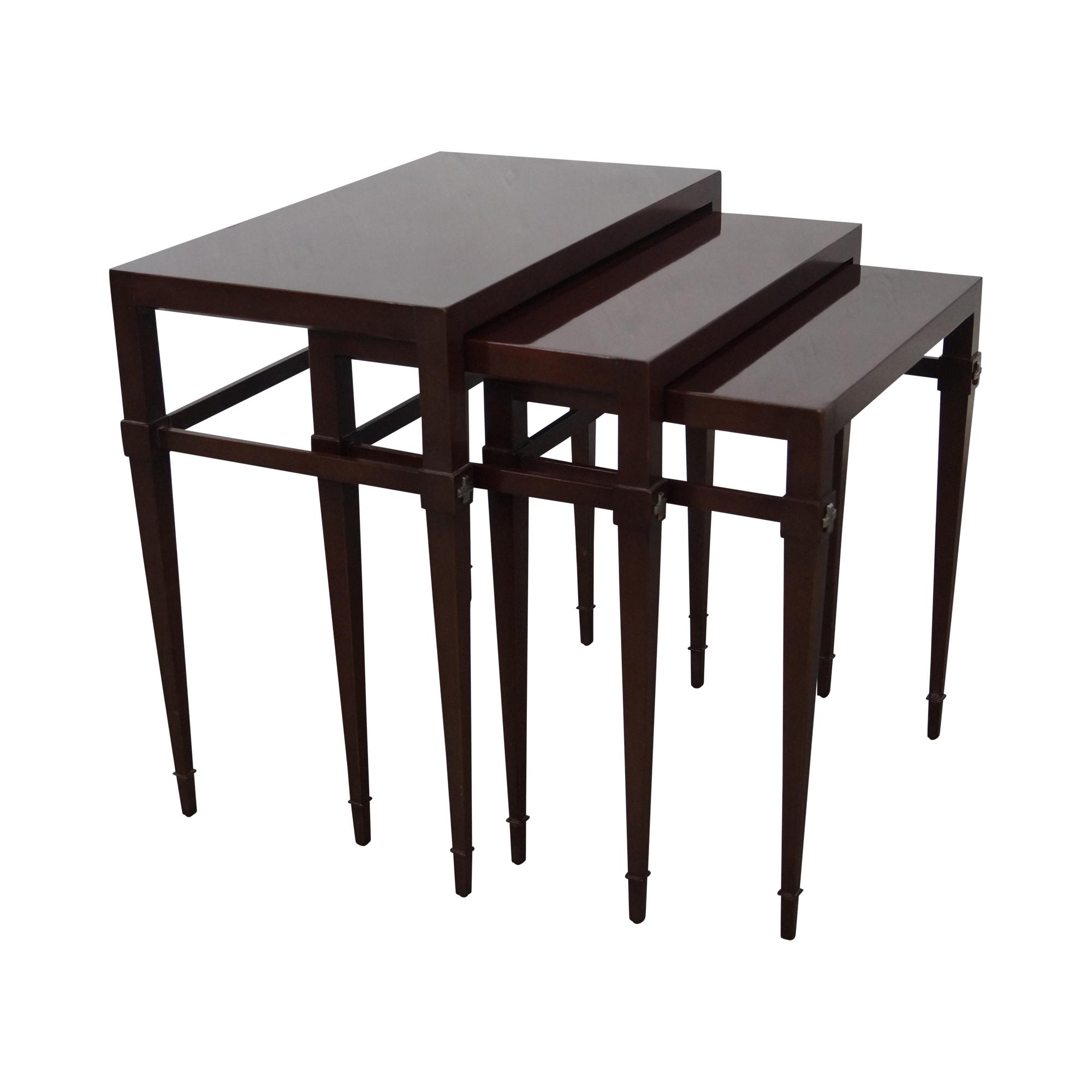Tommi Parzinger Mahogany Nesting Tables   Set Of 3