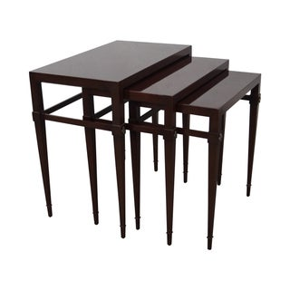 Tommi Parzinger Mahogany Nesting Tables - Set of 3