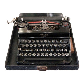 Antique Corona Junior Typewriter With Case