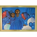 Image of Dominican Woman With Girl Oil Painting