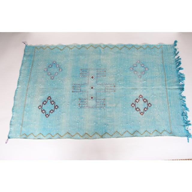Moroccan Cactus Silk Carpet - 2′11″ × 4′11″ - Image 2 of 6