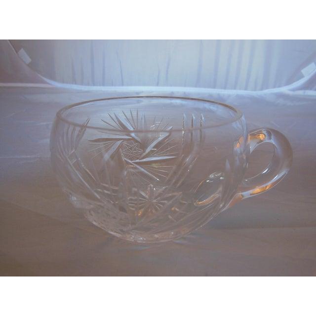 Vintage Crystal Lidded Punch Bowl Set - Set of 7 - Image 7 of 7