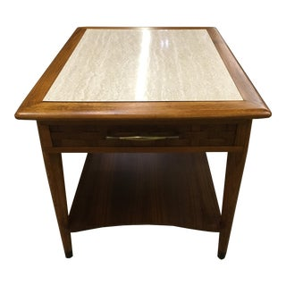 Mid-Century Modern Walnut Side Table
