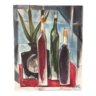Still Life With Bottles by May Bender Vintage Painting