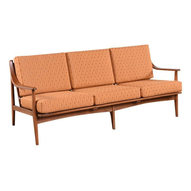 Orange Mid Century Sofa: Restored Mid-Century Modern Sofa In Burnt Orange