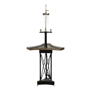 Triangular Wooden Lamp With Table