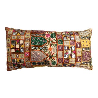 Indian Gypsy Katchi Mirrored Embroidery Pillow