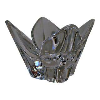 Vintage Orrefors Sweden Crystal Glass Art Lotus Bowl