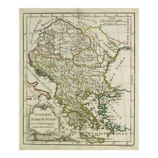 Antique Map Hungary & Balkans, 1778