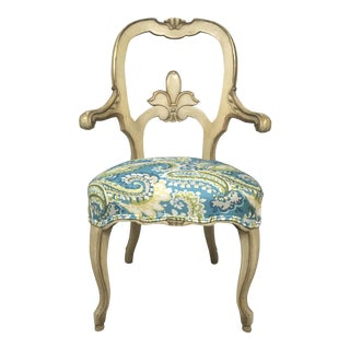 1960s Vintage Italian Florentine Arm Chair