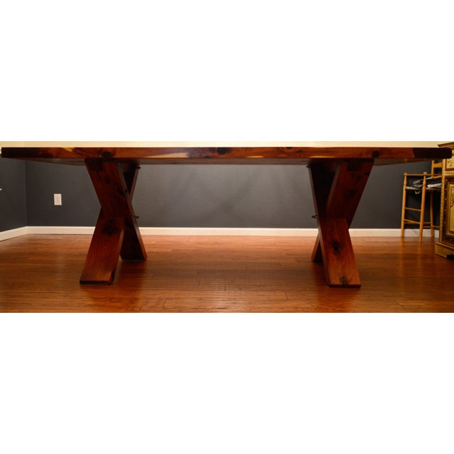Farmhouse X Base Cedar Dining Table Chairish