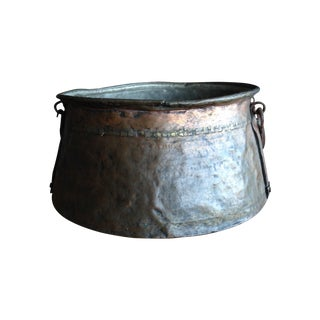 Vintage Copper Jerusalem Cauldron