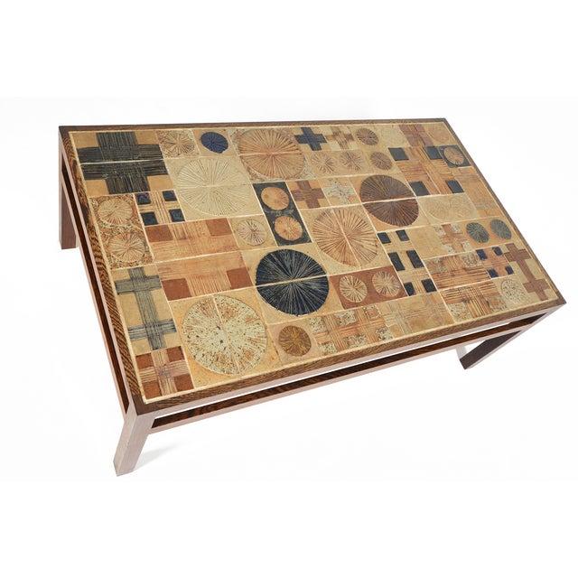 Tue Poulsen Ceramic Tile Coffee Table Chairish