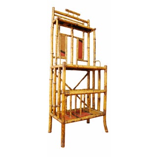 19th-Century Antique Bamboo Hall Stand