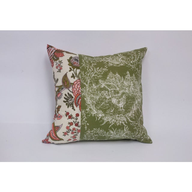 Toile & Vintage Floral Pillows - A Pai - Image 4 of 8