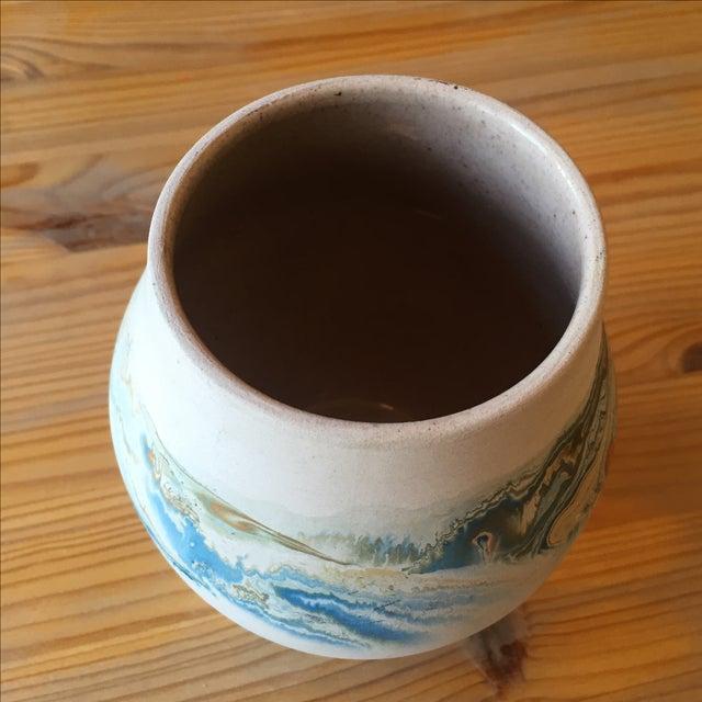 Vintage Blue and Orange Nedmadji Pottery Vase - Image 9 of 11