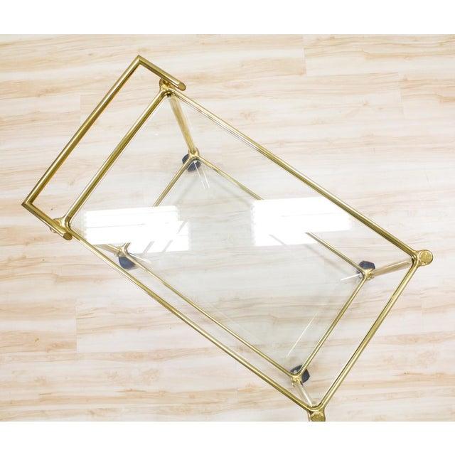 Image of Italian Brass & Glass Bar Cart