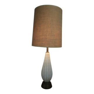 Mid-Century Modern Murano Glass Lamp Alfredo Barbini Style
