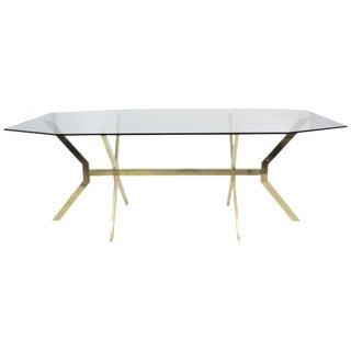 Modern Design Brass & Glass Dining Table