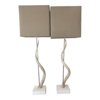 Kudo Horn Lamps - a Pair