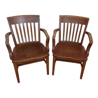 Vintage Library Chairs - A Pair