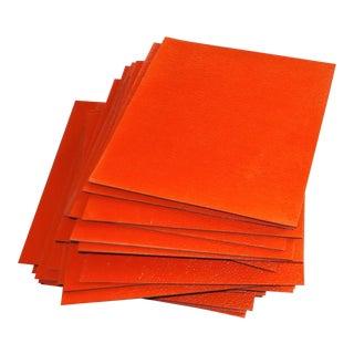 Mid-Century Red Linoleum Vinyl Floor Tile
