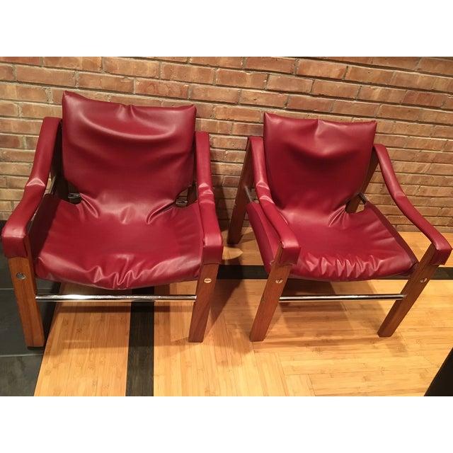 Arkana Safari Chairs by Maurice Burke - A Pair - Image 2 of 7