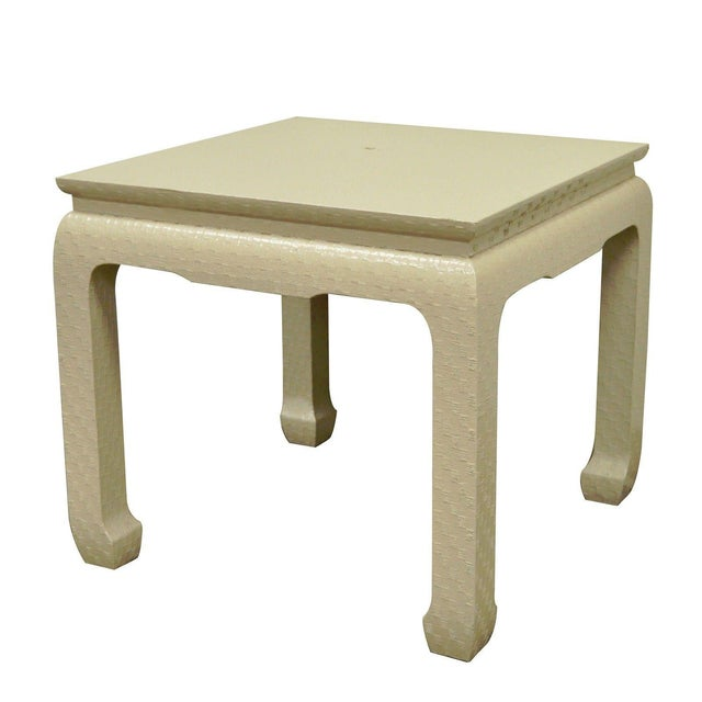 Vintage James Mont for Baker Asian Lacquered Grasscloth Occasional Side Accent Table - Image 11 of 11