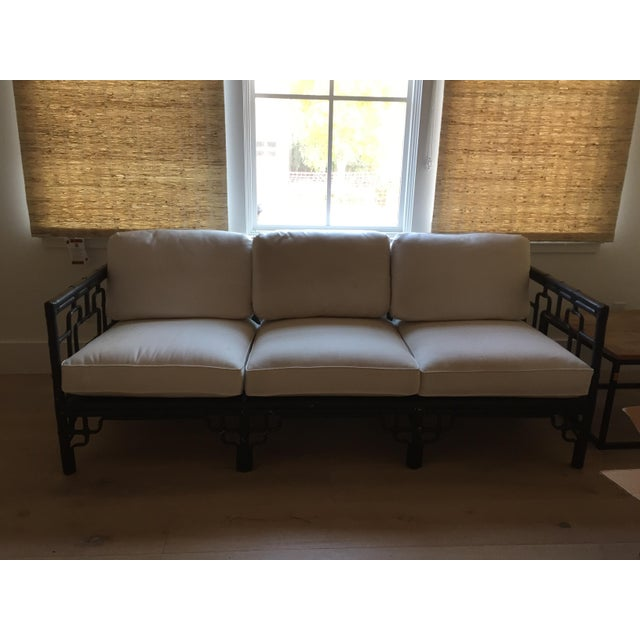 McGuire Sofa with Chinoiserie Style Bamboo Frame - Image 2 of 7