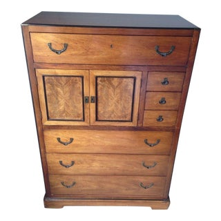 Antique Carved Maple and Veneered Panel Dresser