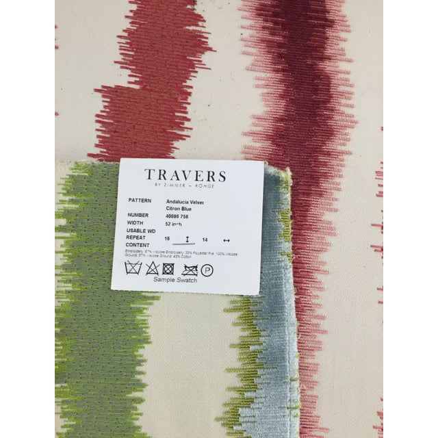 Travers Andalucia Cut Velvet Custom Large Ottoman - Image 2 of 3