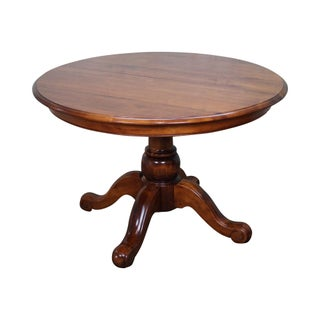 Ethan Allen Country Crossings Round Pedestal Dining Table