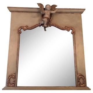 Oversize Mirror with Cherub