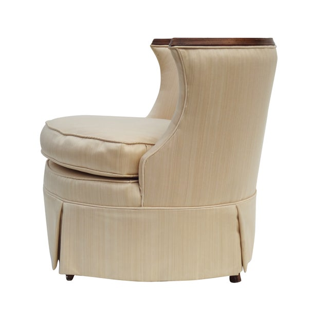 Image of Petite Tufted Boudoir Slipper Chair