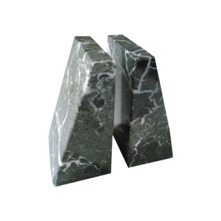 Vintage Tapered Marble Bookends