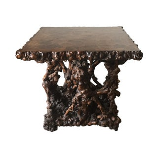 Natural Gnarled & Burled Sculptural Rootwood Table