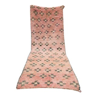 "Pink Moroccan Runner - 4'4"" X 11'5"""
