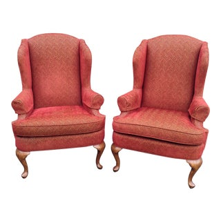 Walter E. Smithe Wingback Chairs - Pair
