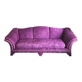 Custom Dyed Purple & Black Silver Trimmed Sofa
